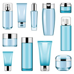 Vector Cosmetic Packaging Icons Set 6