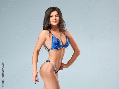 Brunette In Blue Bikini 2