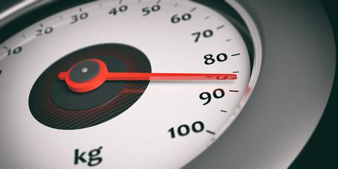 Speedometer - weight indicator. 3d illustration