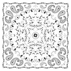 White Bandana Print