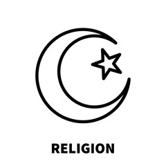 Religion icon or logo in modern line style.