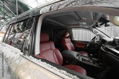 leather car interior red leather texture stock photo and royalty free images on. Black Bedroom Furniture Sets. Home Design Ideas