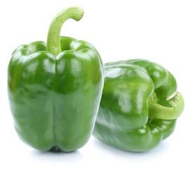 Paprika Paprikas grün frisch Gemüse Freisteller freigestellt i