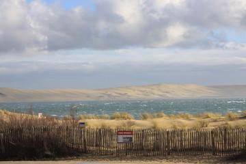 Dunes du Pilat au loin!