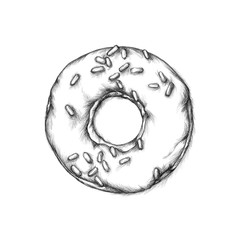 Illustration eines Donuts
