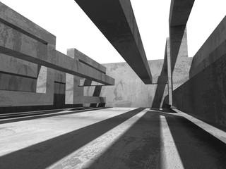 Abstract geometric concrete architecture construction