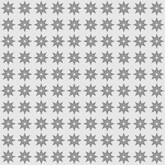 Seamless texture with geometric pattern stars on gray background vector.