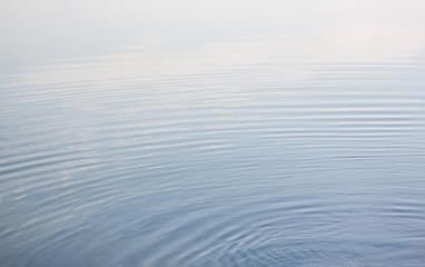 Calm blue water