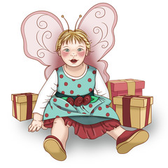 Little Baby Fairy With Gifts