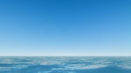 Beautiful Sea and clear blue sky Vector