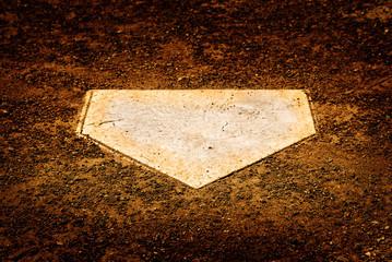 Home Plate on Baseball Diamond for Scoring Points