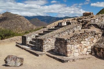 Ruins of the Zapotec pre-hispanic town Dainzu, Oaxaca, Mexico
