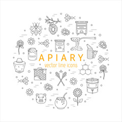 Apiary circle with icons