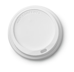Plastic disposable top coffee cap