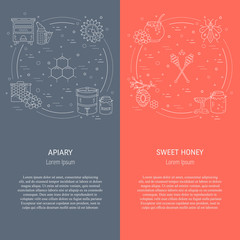 Apiary flyers set