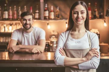 Beautiful young baristas