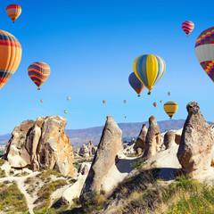 Hot air ballooning in Kapadokya, Turkey
