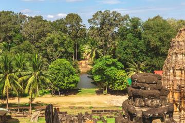 Tropical gardens in Angkor Wat, Siem Reap