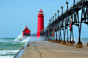 Grand Haven Lighthouse Michigan Wall mural