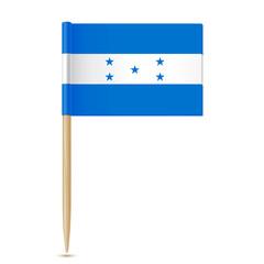 Honduras flag. Flag toothpick 10eps
