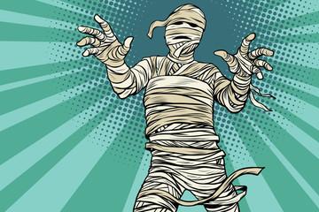 Vintage Egyptian mummy horror movie and Halloween