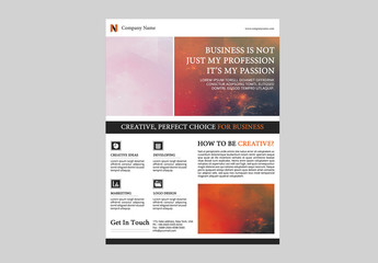 Single Page Business Flyer Layout with Black Dividers