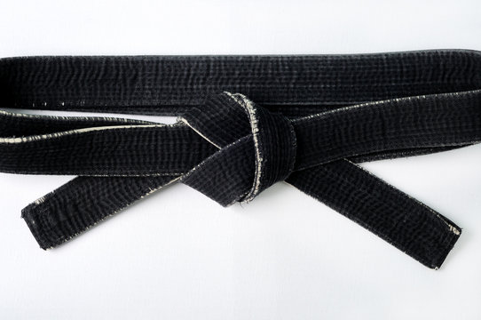 black belt martial arts master of Oriental