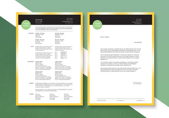 Clean and Modern Resume and Cover Letter Layout Set