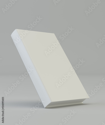 blank vertical book cover template 3d rendering stock photo and