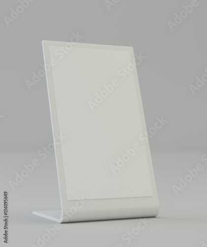 Blank plastic holder clear brochure holding empty paper for Cardboard brochure holder template