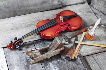 Violin making - instrument making