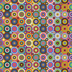 Colored Circles Seamless Pattern