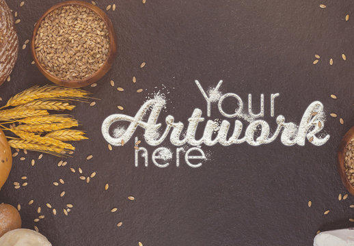 Message in Flour Mockup