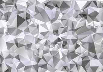 Light Gray White Polygonal Background, Creative Design Templates