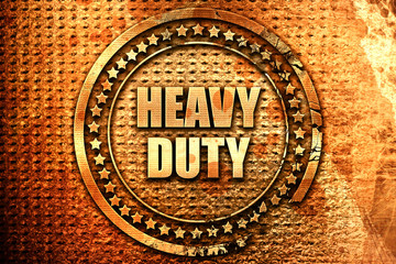 heavy duty, 3D rendering, text on metal
