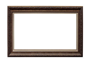 Picture photo frame isolated on white background