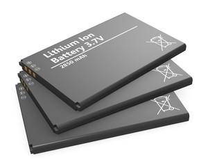 Stapel Lithium-Ionen-Akkus