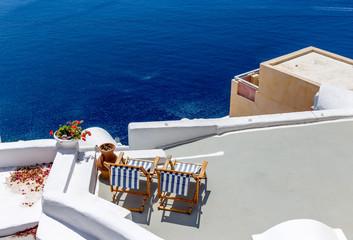 Griechenland Santorin Liegen