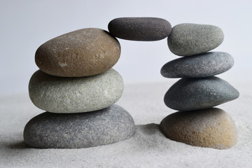 balance of meditation stones