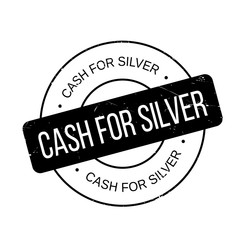 Cash For Silver rubber stamp. Grunge design with dust scratches. Effects can be easily removed for a clean, crisp look. Color is easily changed.
