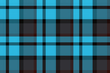 Wide continuous   plaid fabric pattern