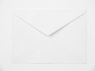 Envelope on white background