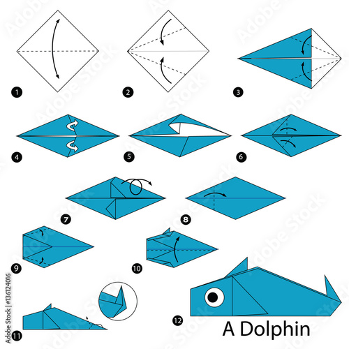 quotstep by step instructions how to make origami a dolphin