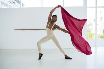 Ballerino practicing ballet dance