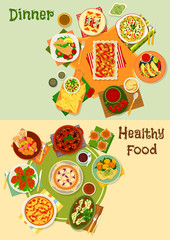 Mexican cuisine icon set for restaurant design