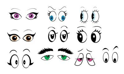 Cartoon Eyes Set One