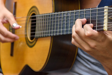Seven string guitar, traditional samba and chorinho instrument, Brazilian musical styles
