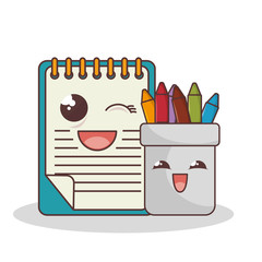 school elements funny characters vector illustration design
