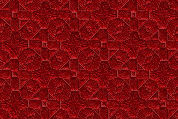 Repeating scarlet brilliant background