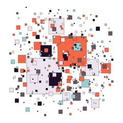 Abstract background with squares - vector illustration